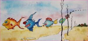 Die Fische ziehen nach Sueden