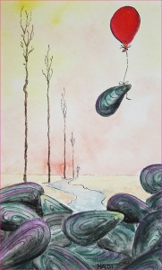 Muschel auf Abwegen